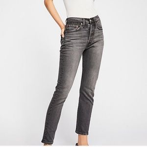 Levis Altered 701 high rise skinny
